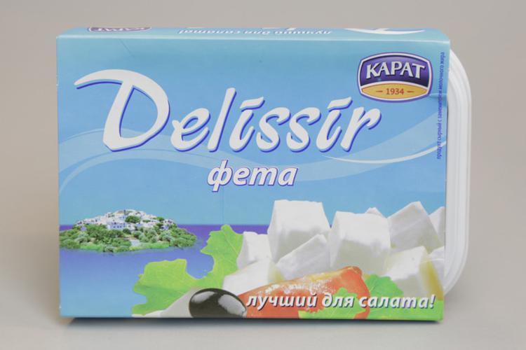 """Сырный продукт Delissir """"Фета"""" 55%"""