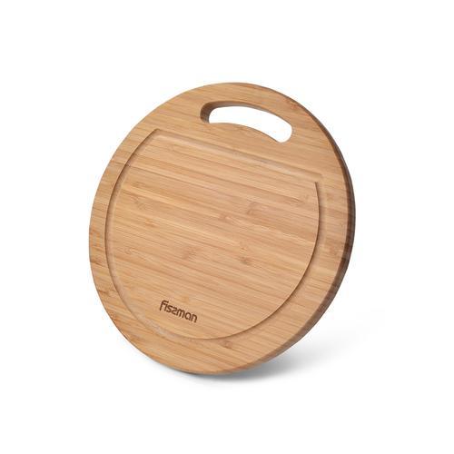 Доска разделочная 28x28x1,9см круглая (бамбук)