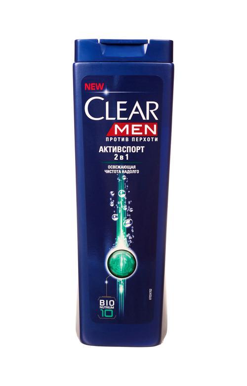 цена Шампунь против перхоти для нормальных волос и кожи головы Clear Vita ABE Men Активспорт  2в1, Освежающая чистота на долго, формула с витаминами и минералами, 400мл.