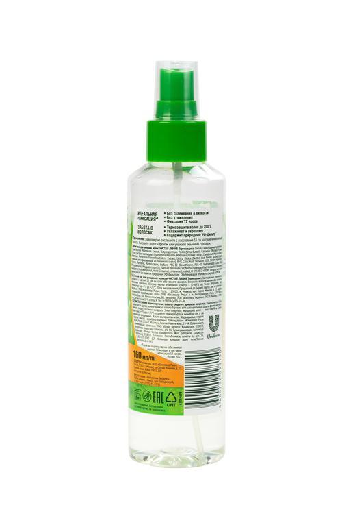 Легкий лак для укладки волос чистая линия термозащита