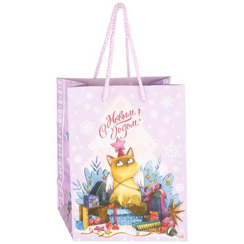 Пакет бумажный Magic Time для сувенирной продукции Котик со звездочкой 17,8*22,9*9,8см