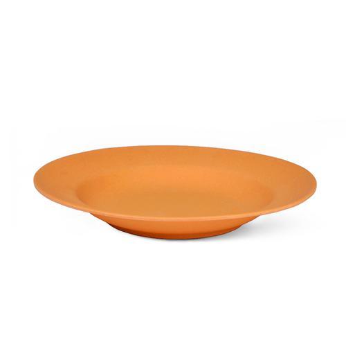 Тарелка 23x3,6см Глубокая, цвет Оранжевый (бамбуковое волокно)