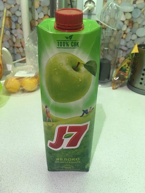 фото2 Сок J7 яблочный