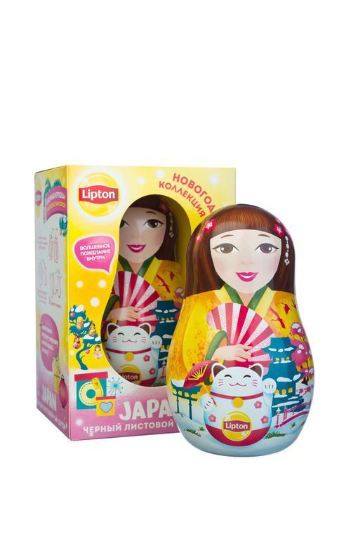 фото4 Набор Lipton «Новогодняя игрушка-матрешка» с листовым чаем