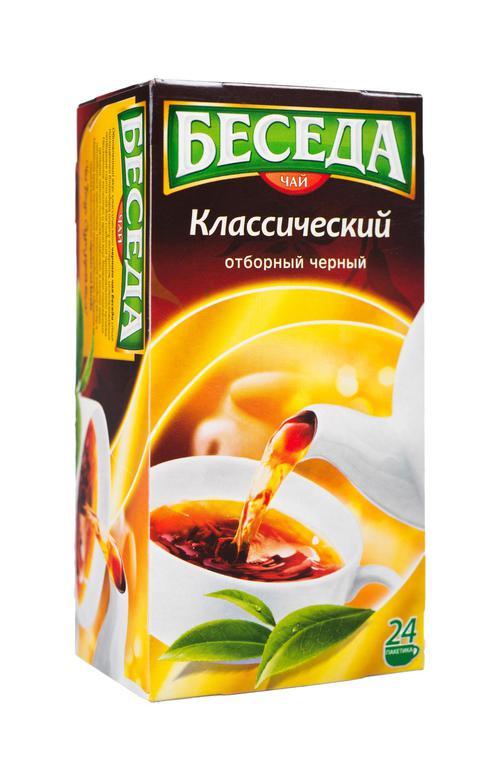 """цена Чай """"Беседа"""" (Unilever), черный байховый классический отборный"""