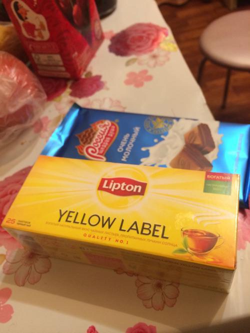 фото5 Чай Lipton Yellow Label черный, 25пак.