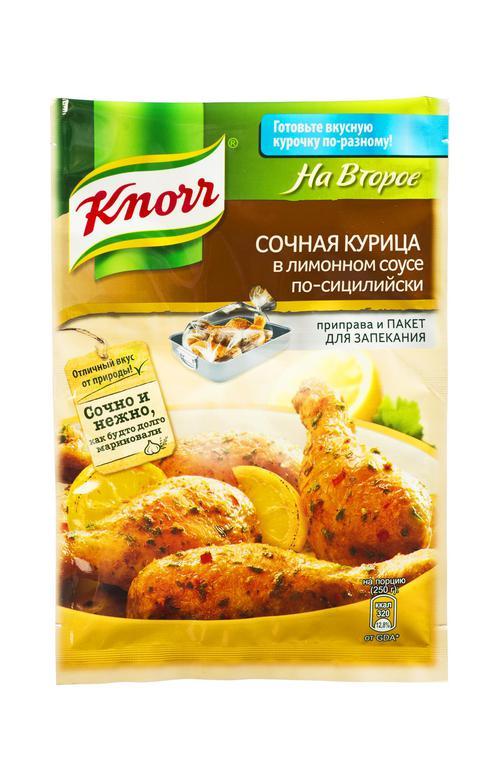 """отзыв Сухая смесь для приготовления """"Knorr"""" сочная курица в лимонном соусе по- сицилийски 21 г."""