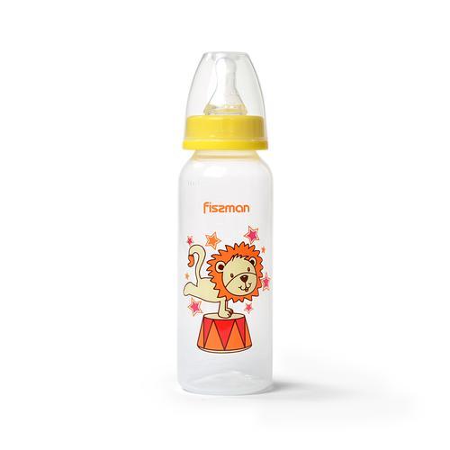 Бутылочка для кормления 240 мл, цвет ЖЕЛТЫЙ (пластик)