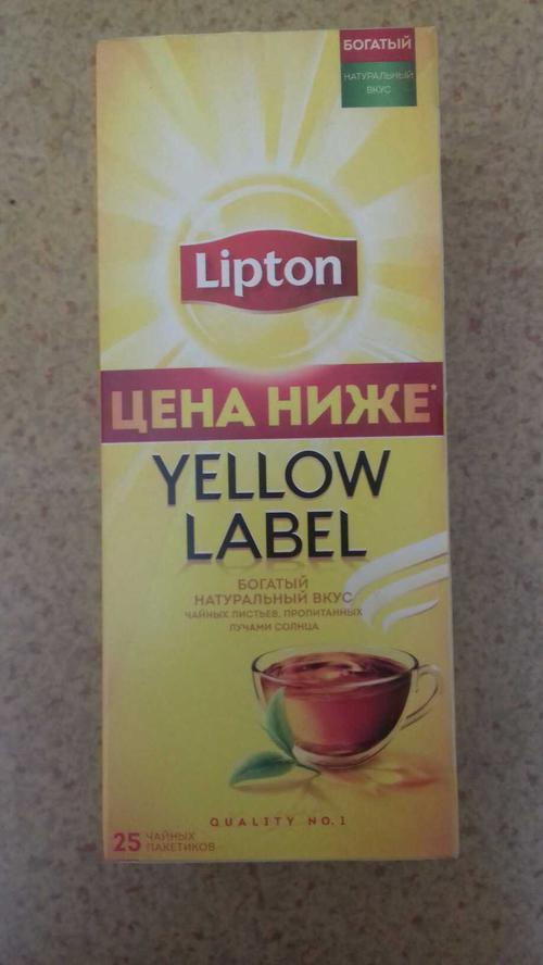 фото17 Чай Lipton Yellow Label черный, 25пак.
