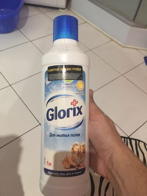 """стоимость Средство чистящее для пола """"Glorix"""" Свежесть Атлантики, очищает и дезинфицирует, """"Unilever"""", 1000мл"""