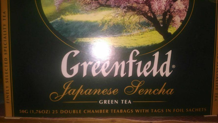 Чай зеленый байховый Гринфилд Джапаниз Сенча в пакетиках