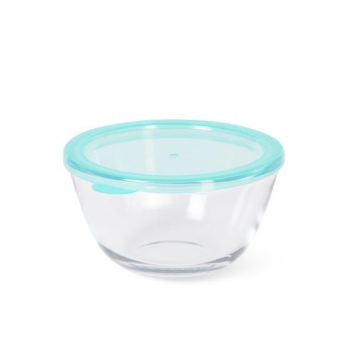 Миска с пластиковой крышкой 15x8см / 0,8л (стекло)