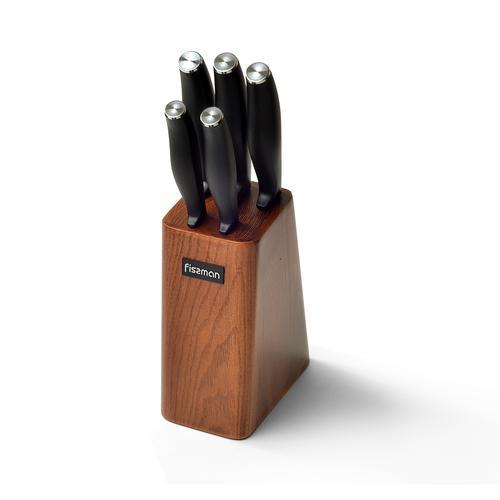 Набор ножей 6 пр. TESSEN в деревянной подставке (3Cr13 сталь)