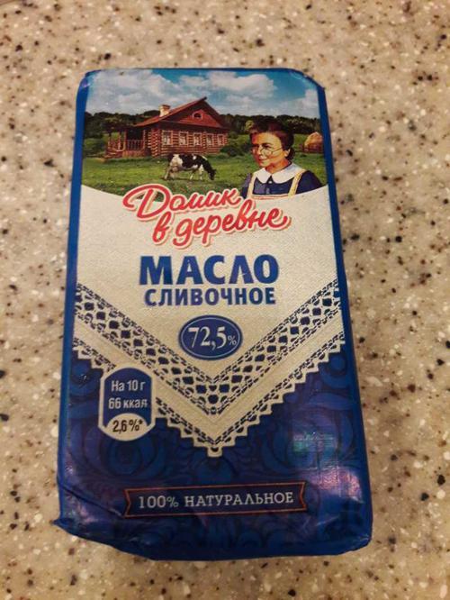 "фото4 Сливочное масло ""Домик в деревне"" 72,5%"