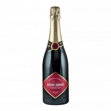 Абрау Дюрсо вино игристое выдержанное полусладкое красное Премиум Каберне