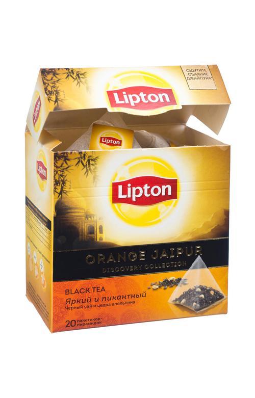 "Чай ""Lipton"", Черный Orange Jaipur; пирамидки"