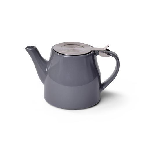 Заварочный чайник 600 мл с ситечком, цвет СЕРЫЙ ЖЕМЧУГ (керамика)
