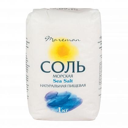 Соль морская Sea Salt натуральная пищевая, поваренная садочная