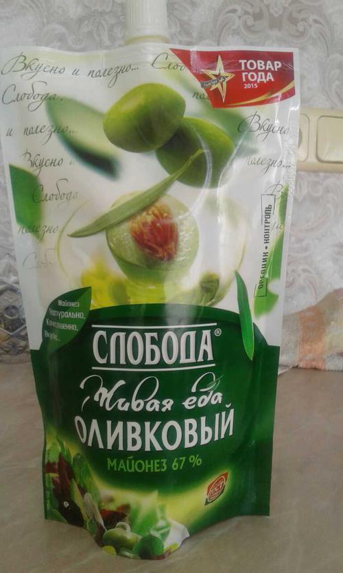 """фото26 Майонез """"Слобода"""" оливковый 67%, 400мл"""