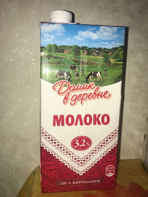 """фото Молоко """"Домик в деревне"""" 3,2% ультрапастеризованное"""