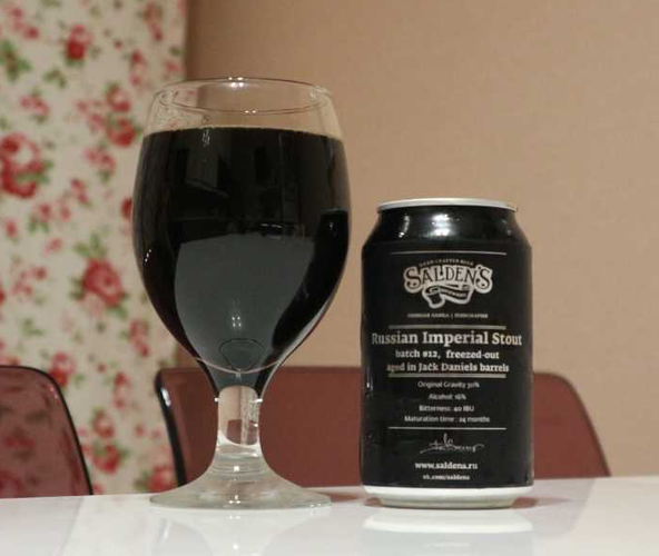 Russian Imperial stout, batch #12, freezed out aged in Jack Daniels barrels
