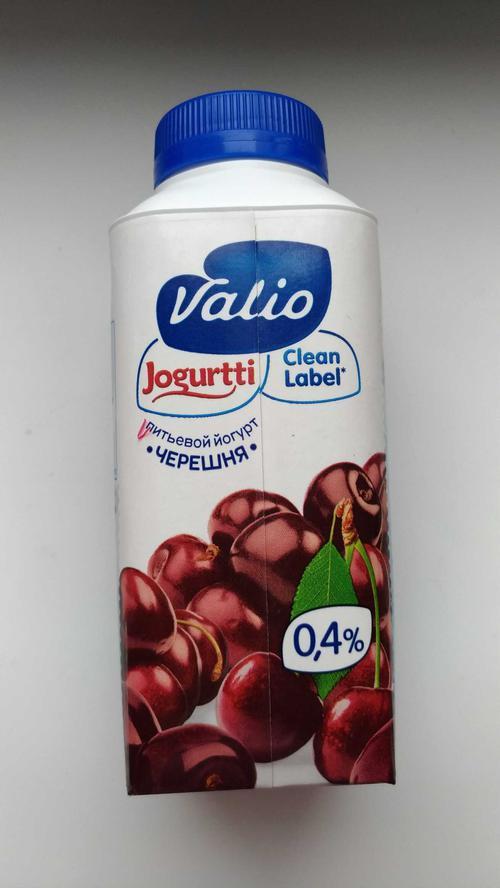 """Питьевой йогурт """"Valio"""", черешня"""
