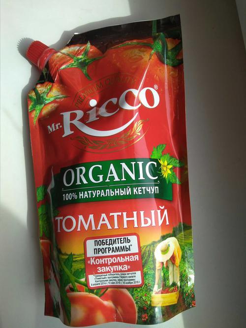 фото Кетчуп томатный Pomodoro Speciale Mr.Ricco. Высшая категория. Пастеризованный.