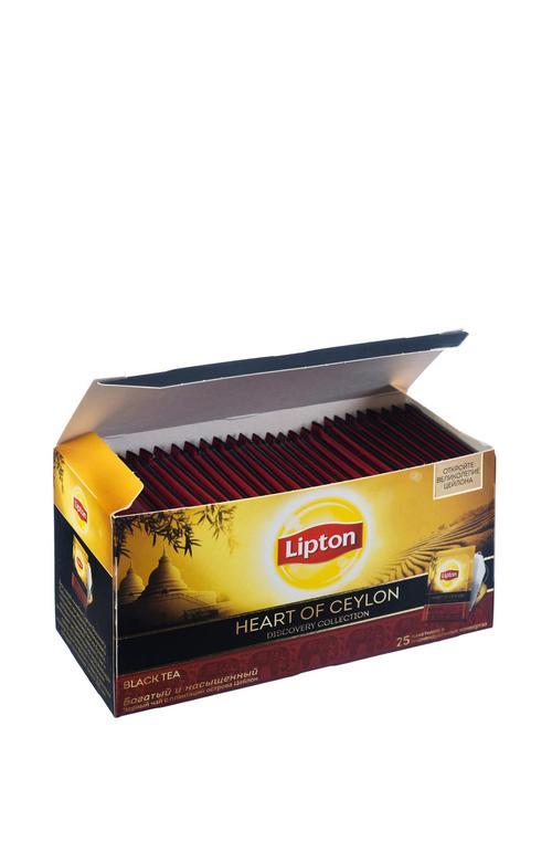 цена Чай Lipton Discovery Heart of Ceylon, черный, 25 пакетиков