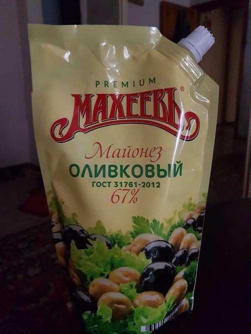 описание Майонез Махеевъ Оливковый 67 %, 380гр.