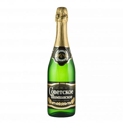 Советское Шампанское Вино игристое полусладкое белое