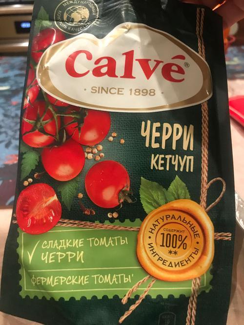стоимость Calve кетчуп с помидорами Черри 350 г.