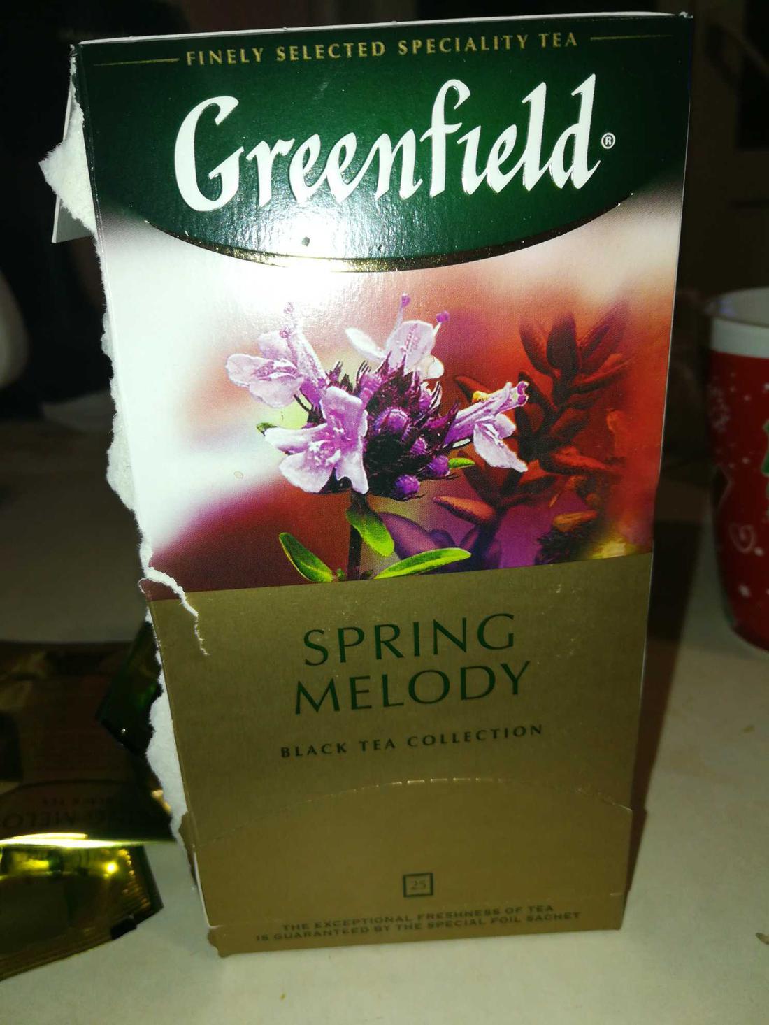 фото Чай черный байховый Гринфилд Спринг Мелоди в пакетиках