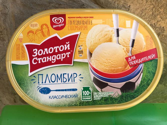 отзыв Золотой стандарт мороженое пломбир ванильный 475 г
