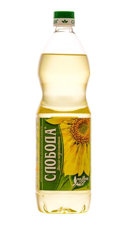 цена Масло подсолнечное Слобода рафинированное дезодорированное, 1л.