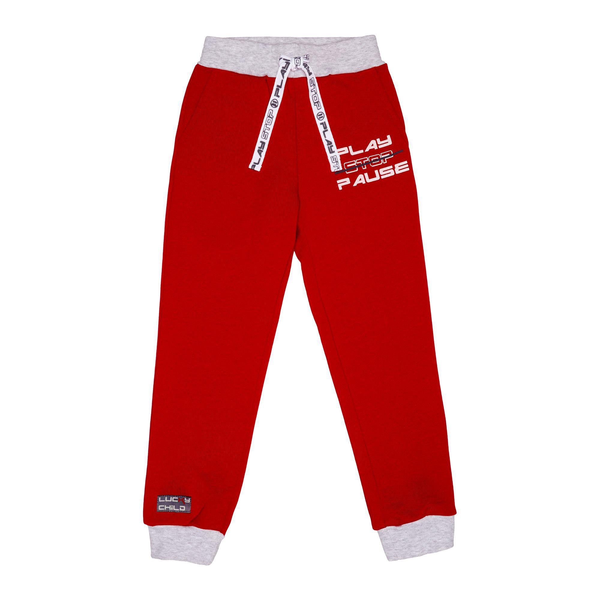 Спортивные брюки Lucky Child Больше пространства красные 128-134