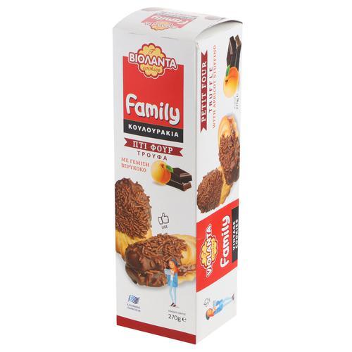 Печенье VIOLANTA Family шоколадный трюфель с абрикосом 270 г