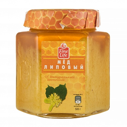 Мёд натуральный цветочный липовый