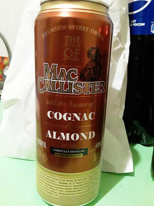 Коктейль винный газированный «МАККАЛЛИСТЕР со вкусом коньяка и миндаля (MACCALLISTER COGNAC ALMOND flavour)»
