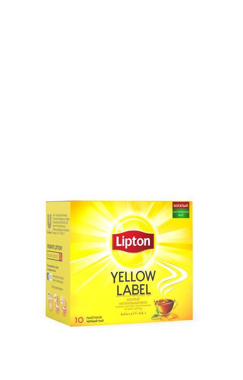 цена Чай черный yellow label 10пакх60 transfer