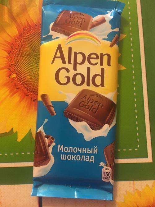 фото3 Шоколад Alpen Gold молочный, 90гр.