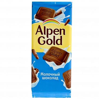 Шоколад Alpen Gold молочный, 90гр.