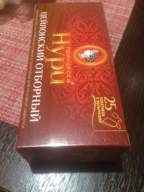 Чай черный байховый Принцесса Нури Цейлонский Отборный в пакетиках
