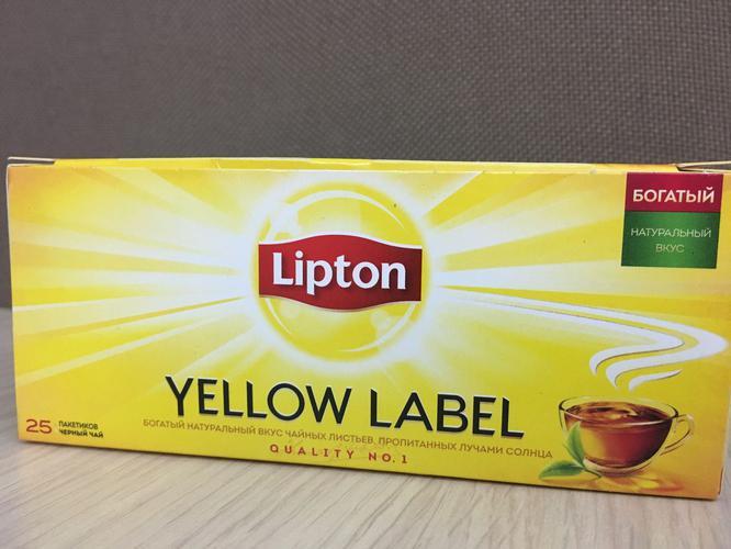 фото Чай Lipton Yellow Label черный, 25пак.