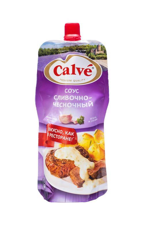 Соус сливочно-чесночный для мяса Calve