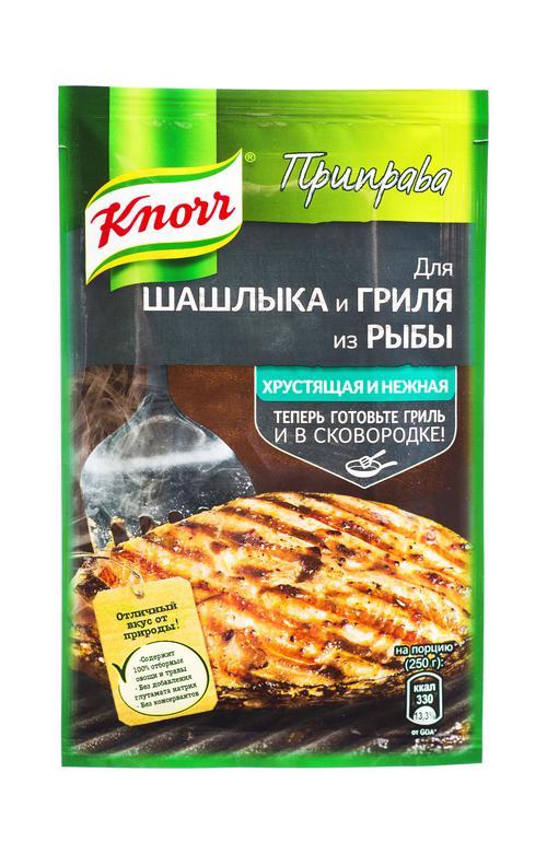 отзыв Knorr приправа для шашлыка и гриля из рыбы хрустящая и нежная 23 гр