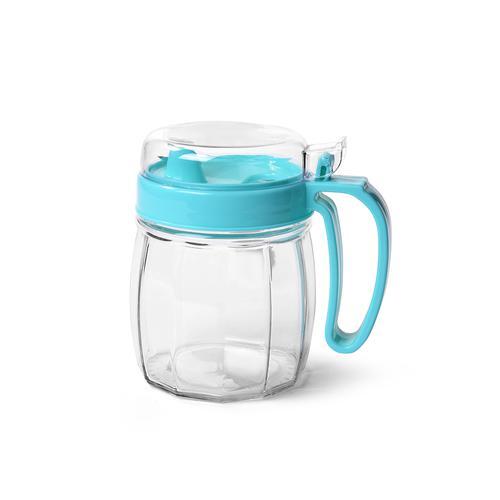 Бутылочка для масла 720мл с пластиковой крышкой (стекло)