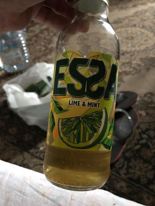 """Пивной напиток """"ЭССА"""" со вкусом и ароматом лайма и мяты. Пастеризованный 6,5%, Бутылка стеклянная 0,5 л"""