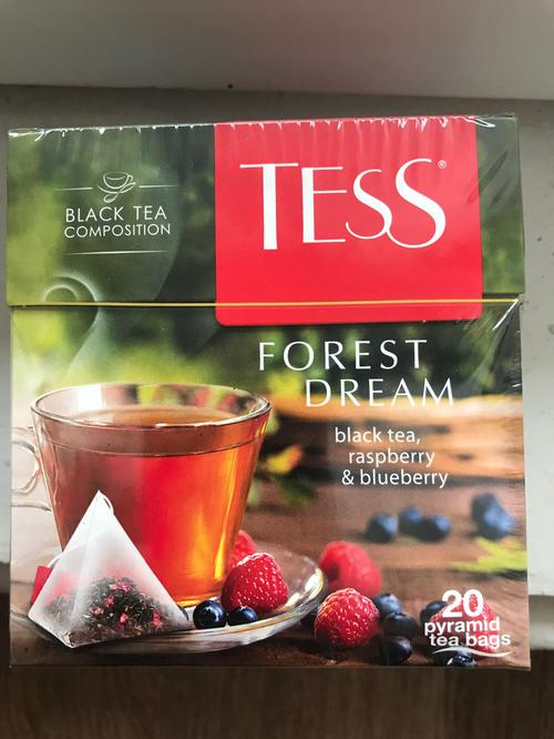 Чай черный байховый с ароматом малины и черники Тесс Форест Дрим в пакетиках
