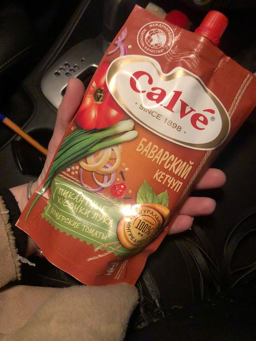 """Кетчуп """"Calve"""" Баварский с зеленым луком 350г"""