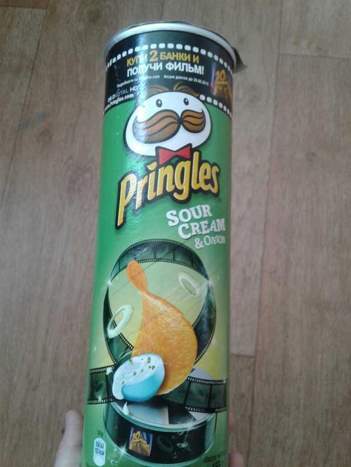 фото1 Чипсы Pringles со вкусом сметаны и лука, 165гр.